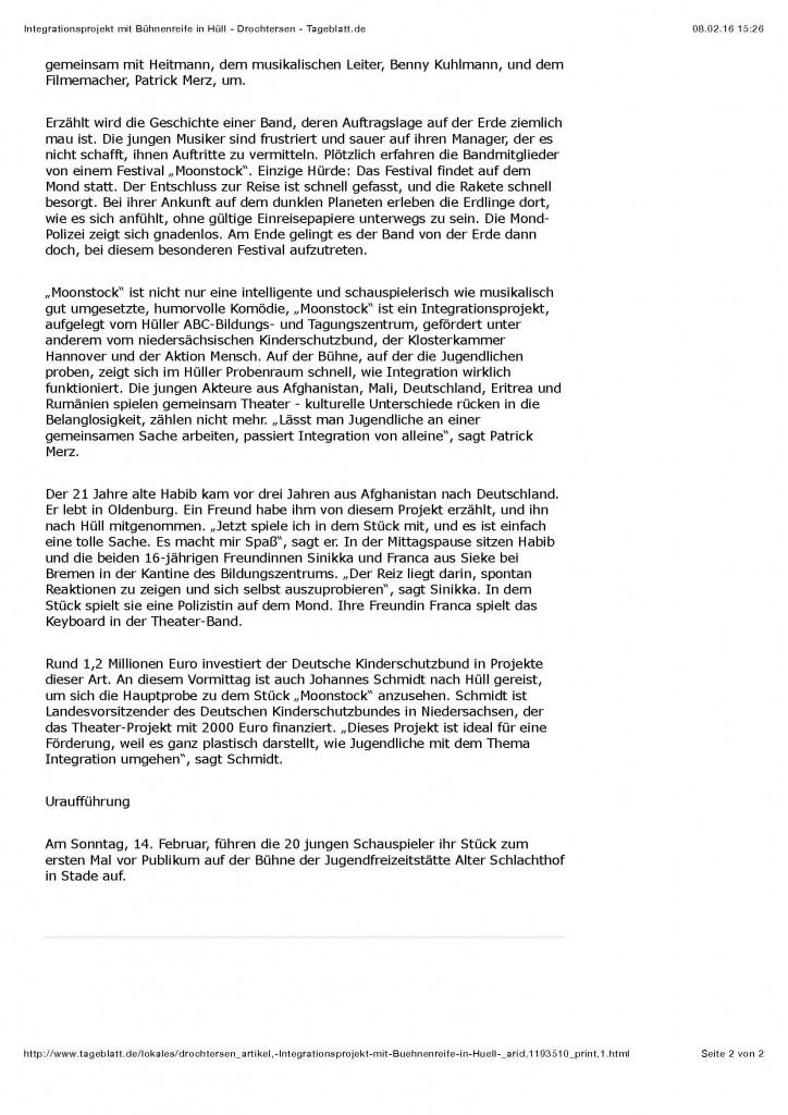Integrationsprojekt mit Bühnenreife in Hüll - Drochtersen - Tageblatt.de_Seite_2